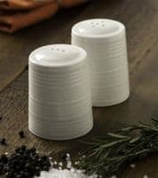 Belleek Living Ripple Salt and Pepper Set